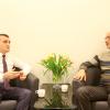 Əhməd Şahidov Stokholmda erməni hüquq müdafiəçisi Vahe Avetyanla görüşüb