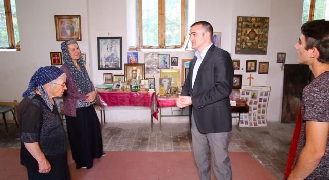 Əhməd Şahidov Qaxın İngiloy-Kötüklü kəndindəki gürcü-pravoslav kilsəsini ziyarət edib